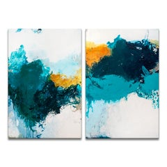 'Serenity I/II' 2-Piece Original Canvas Abstract Painting Set by Tammy Staab