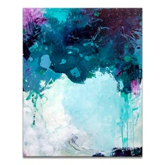 'Liquid Vibe' Wrapped Canvas Original Abstract Painting by Tammy Staab