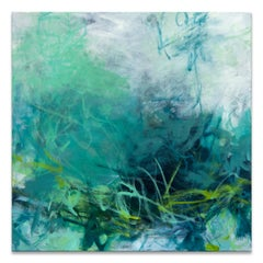'Wading in the Shallows' Original Canvas Abstract Painting by Tammy Staab