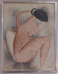 Picassoesque Zoomorphic Female Nude