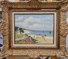 Belle Epoque Beach Scene, Honfleur, La Plage du Petit Phare