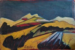 'Les Alpilles' Mid-Century Fauvist Oil on Board