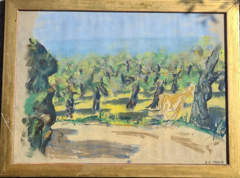 Pair of watercolours. Possibly Views From The Santa Fe Railroad - Impressionist Art by Edgar Alwin Payne