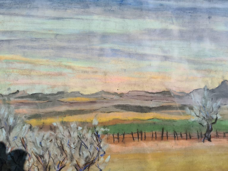 Pair of watercolours. Possibly Views From The Santa Fe Railroad For Sale 8