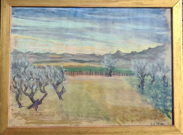 Pair of watercolours. Possibly Views From The Santa Fe Railroad For Sale 3
