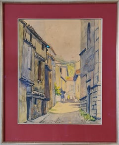 Barcelona Street Scene, Watercolour on Paper.