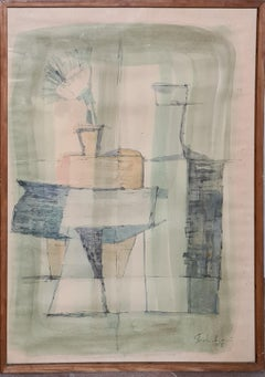 Tablescape With Green Cloth, 1955