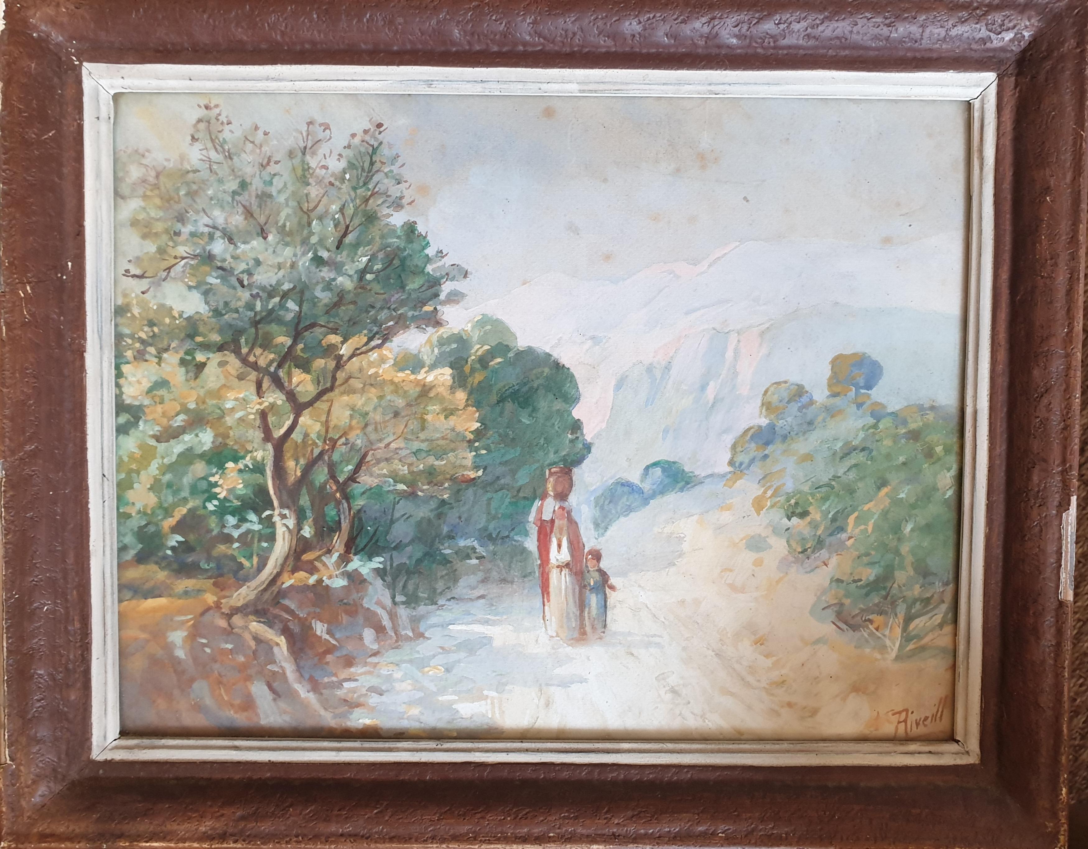 The Watercarrier, Orientalist Watercolour.