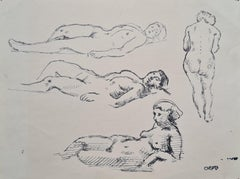Study for femme Nue, Liggend Naakt