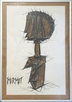 Mermet. Mid-Century Design for a Sculpture.