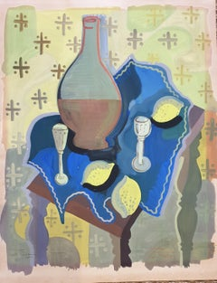 Still life , Tablescape with Lemons