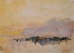 Tribute to Turner, Impressionist view of Lake Lucerne, Switzerland.