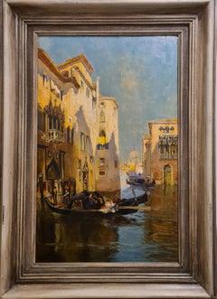 Venice, Rio and Ponte San Moise, View Towards Santa Maria della Salute