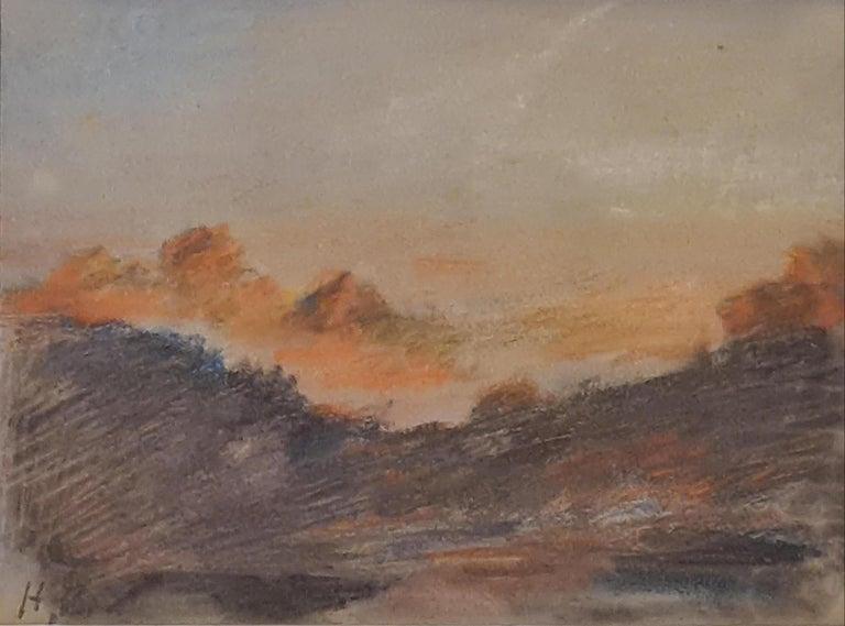 Hercules Brabazon Brabazon Landscape Art - Sunset on the Alps