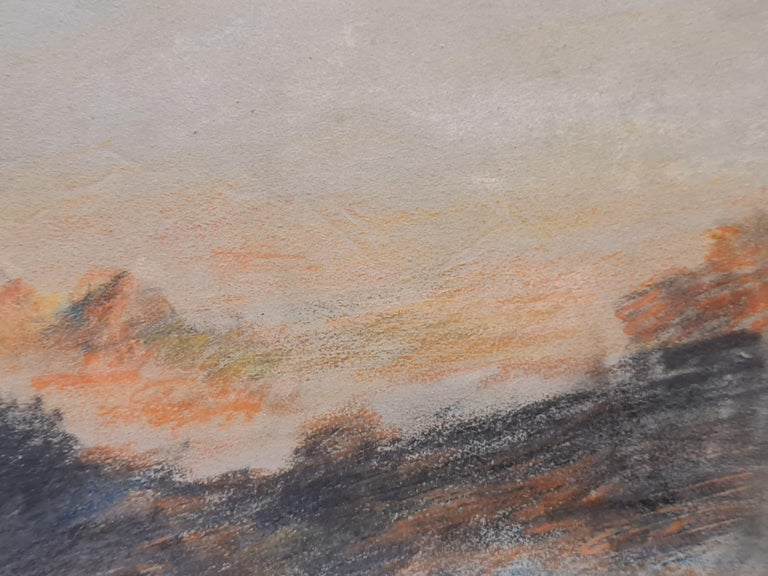 Sunset on the Alps For Sale 2