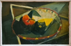 Hommage to Lhote, Cubist Mid-Century Still Life, Oil on Board.