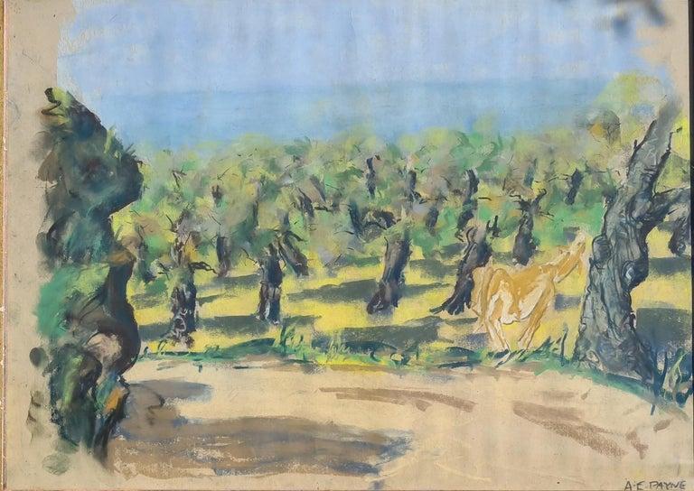 Edgar Alwin Payne Animal Art - Pair of watercolours. Possibly Views From The Santa Fe Railroad