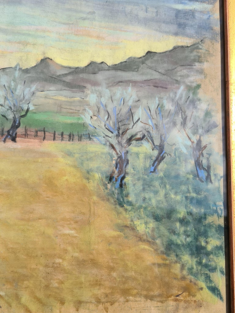 Pair of watercolours. Possibly Views From The Santa Fe Railroad For Sale 7