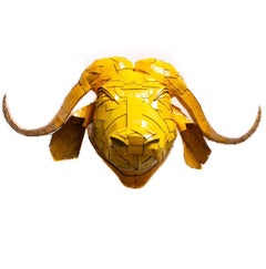 Buffalo #2 in Butterscotch Yellow with Gold Leaf Detail