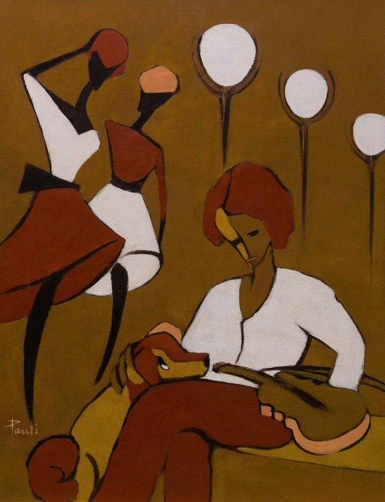 Gilbert Pauli Animal Painting - The violinist
