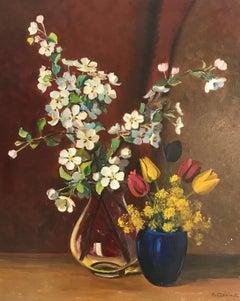 Bouquets de fleurs en vases - Bouquets of flowers in vases