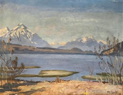 Paysage lacustre et montagnes -  Lake landscape and mountains
