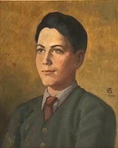Portrait de jeune homme à la cravatte -   Portrait of young man in tie