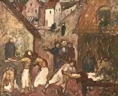 Four à pain et villageois - Bread oven and villagers