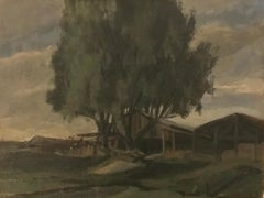 The tree in front of the barn