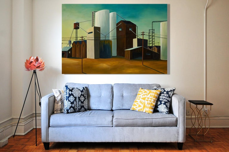 Site industriel - Industrial site - Painting by Pascale Badaf