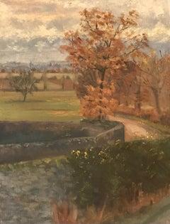 Paysage de campagne à Troinex, Genève - Country landscape in Troinex, Geneva