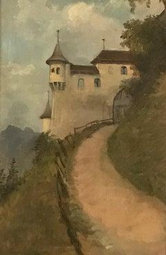 Chemin vers le château - Path to the castle