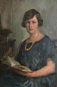 Portrait de femme au collier de perles - Portrait of woman with pearls necklace