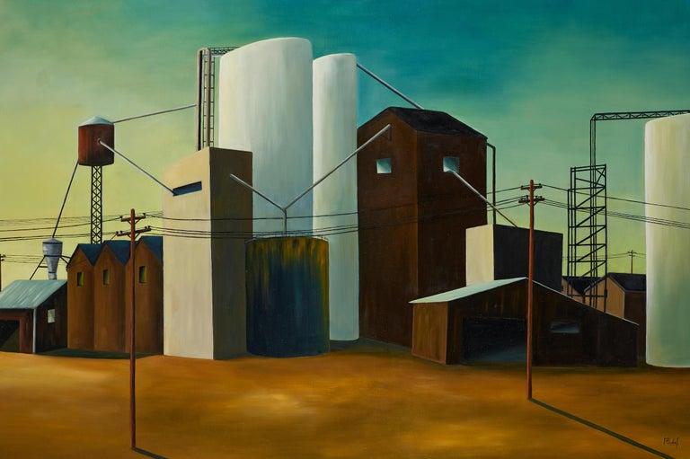 Pascale Badaf Landscape Painting -  Site industriel - Industrial site