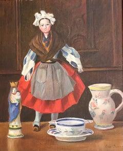 Poupée de table en tenue folklorique - Table doll in folk dress