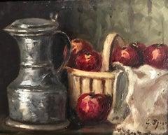 Nature morte au pommes et à la channe - Still life with apples and channe