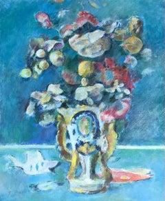 Bouquet en vase de porcelaine - Bouquet in porcelain vase