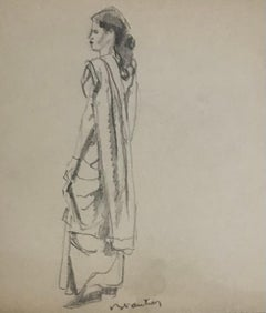Young woman in formal wear