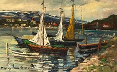 Voiliers en bord de lac - Sailboats by the lake