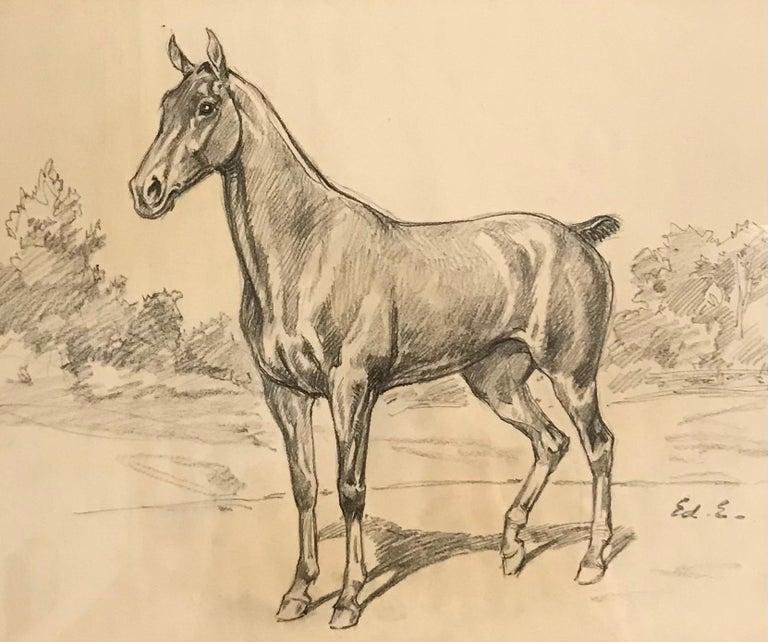 Edouard Elzingre Animal Art - Cheval - Horse