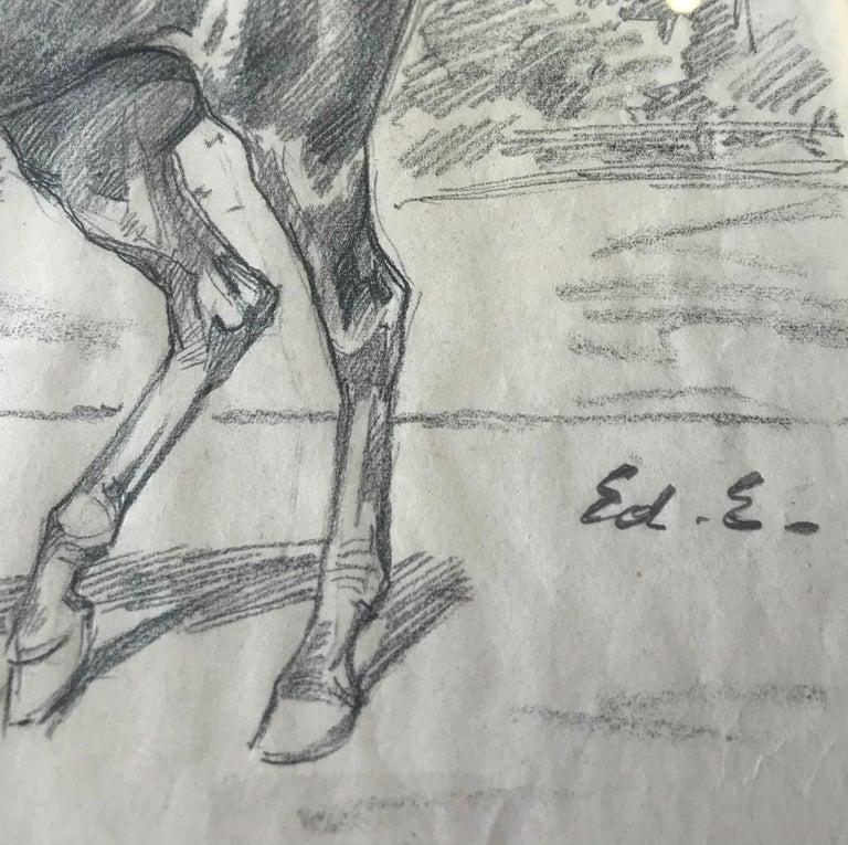 Cheval - Horse - Academic Art by Edouard Elzingre