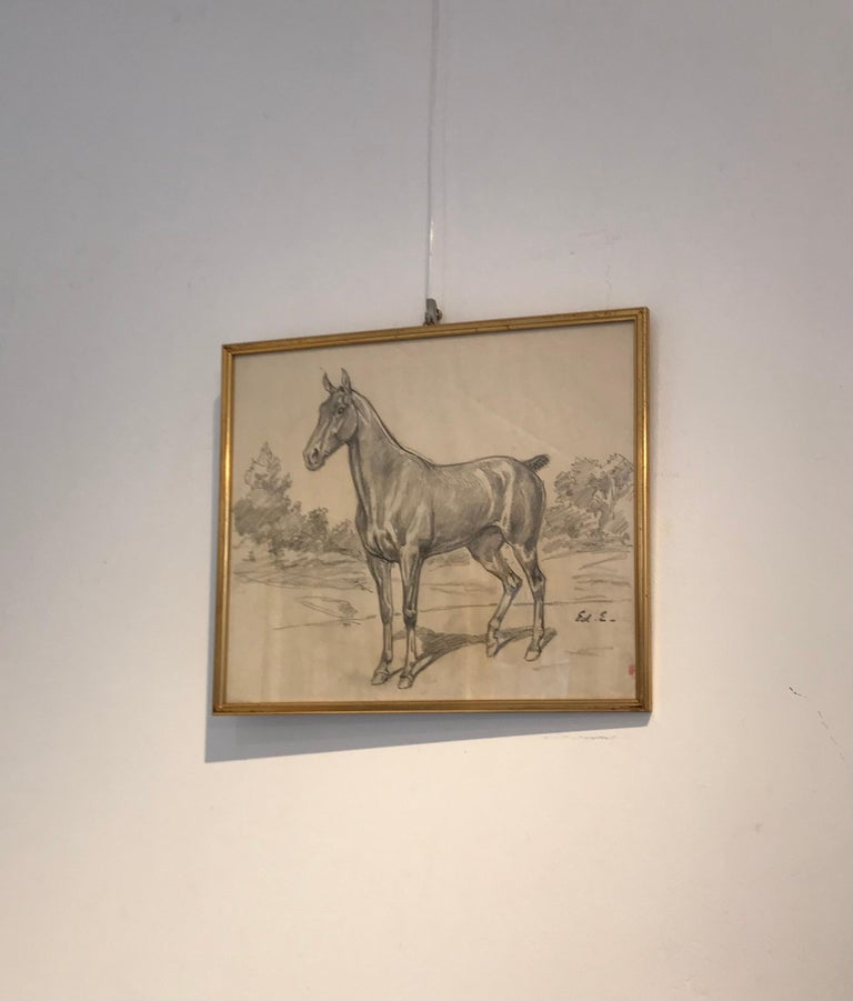 Cheval - Horse - Art by Edouard Elzingre