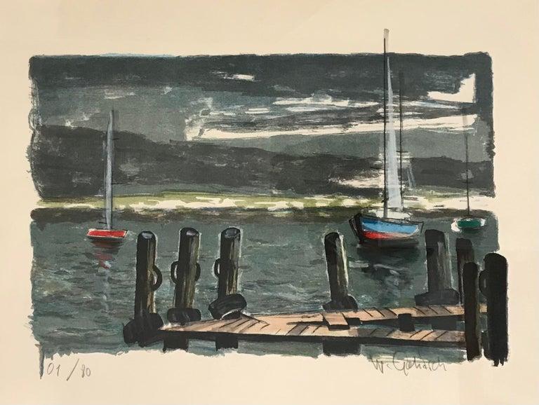 William Goliasch Landscape Print - Sailboats