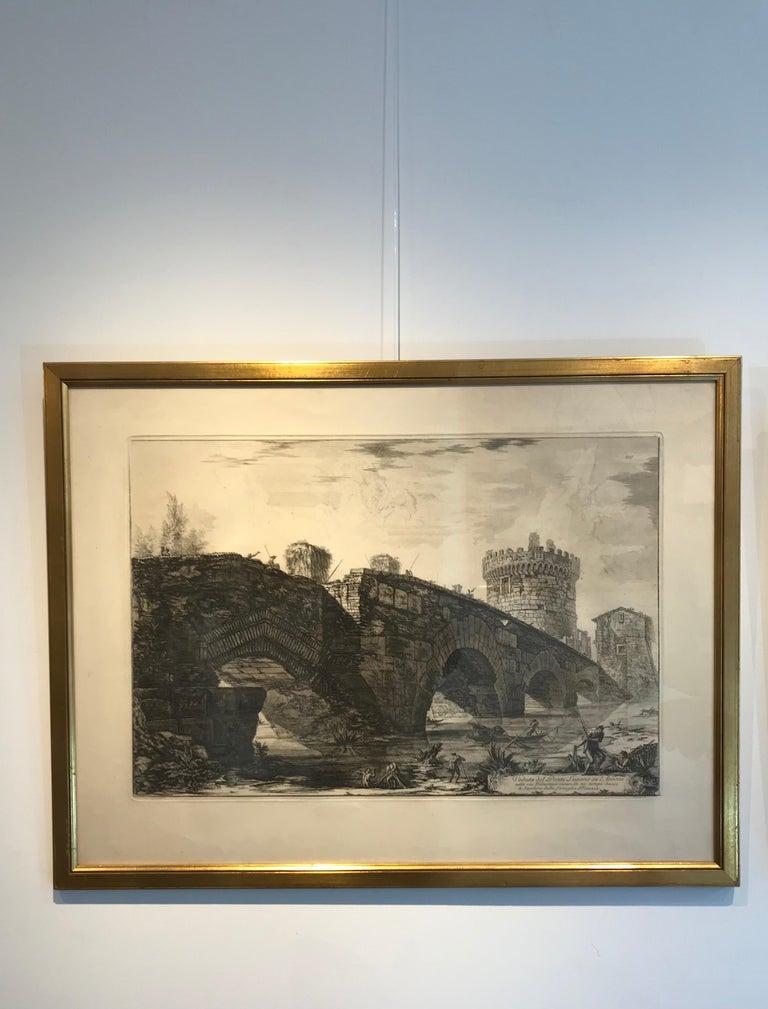 Veduta Del Ponte Lugano su l'Avione - Art by Francesco Piranesi
