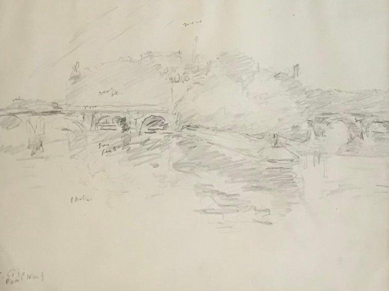 Paul Mathey Landscape Art - Pont Neuf, Geneva