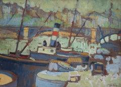 Paris, Seine. 1918/19, oil on cardboard, 38x52 cm