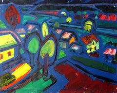 Sunset. 1977, Oil on canvas, 86x100 cm