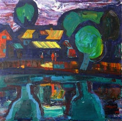 Millennium  1976., Oil on canvas, 80x80 cm
