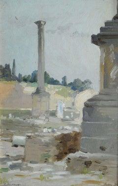 Rome Forum Romanum. 1895, oil on cardboard, 24x16 cm