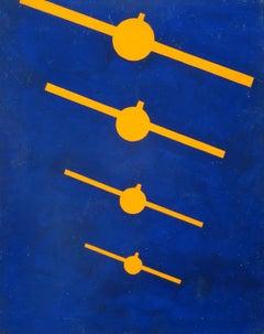 Composition No. 7. 1976, veneer, tempera, 81,5x64,3 cm